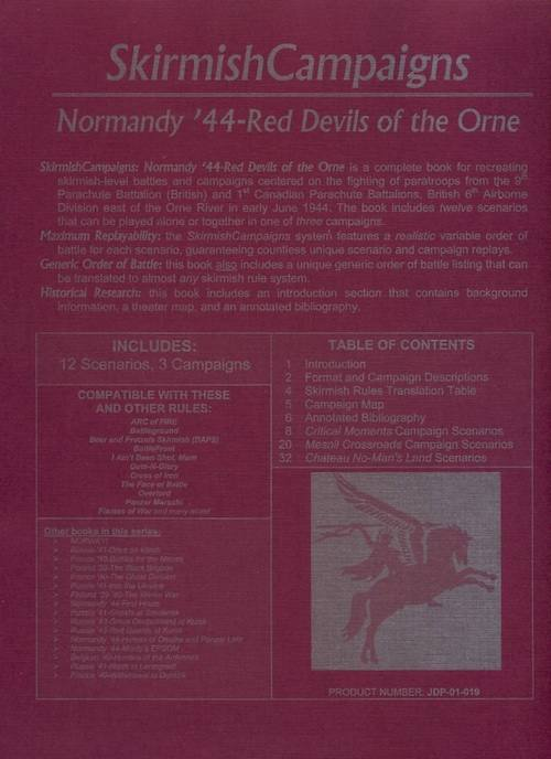 Skirmish Campaigns: Normandy '44 - Red Devils of the Orne