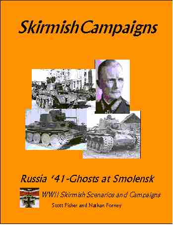 Skirmish Campaigns: Russia 41-Ghosts at Smolensk