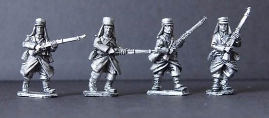 MOD003 - Legion in Greatcoats Advancing I (4)