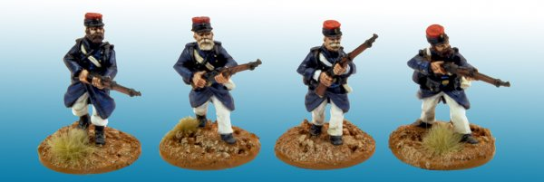 MOD035 - Legionaires in uncovered Kepi. (4)