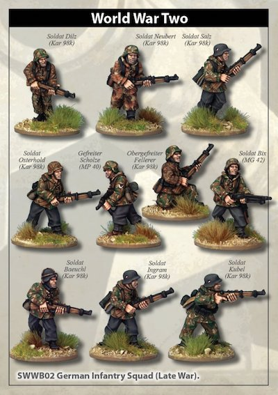 SWWB03  Late War German Infantry Section I (in smocks) (10)