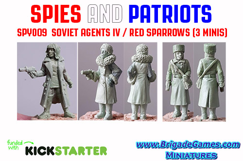 Spies and Patriots - SPY009  Soviet Agents IV / Red Sparrows (3)