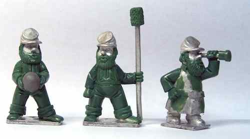 Gnome Wars Northern Americans (Union) Artillery Crew (3)