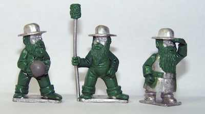 Gnome Wars Southern Americans (Confederate) Artillery Crew (3)