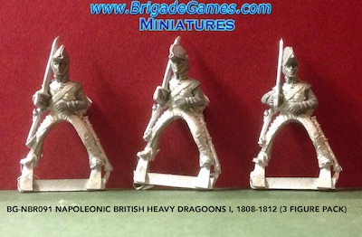 BG-NBR091 Napoleonic British Heavy Dragoons I, 1808-1812 (3 figure pack)