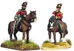 BG-NBR200  Napoleonic British Mounted Waterloo Colonels (x2) and British Foot Pioneer (x1)
