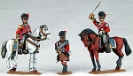 BG-NBR220  Napoleonic British Mounted Highland Colonels (x2) and Highland Foot Pioneer