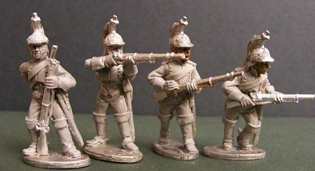 BG-NFR086  French Cavalry Dragoons - Dismounted - Skirmishing (All 4 poses)