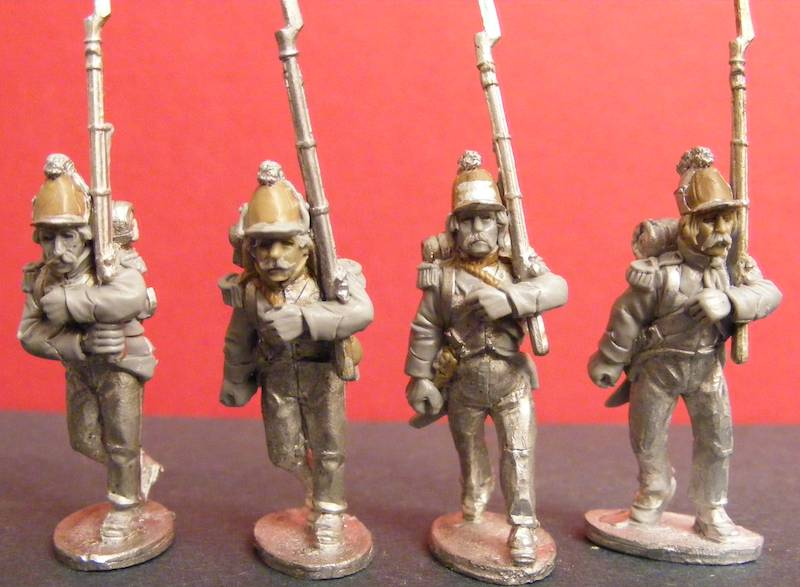 French Grenadiers Marching Kleber Campaign Uniform, Casquettes a Pouffes, Egypt Campaign (All 4 variants)