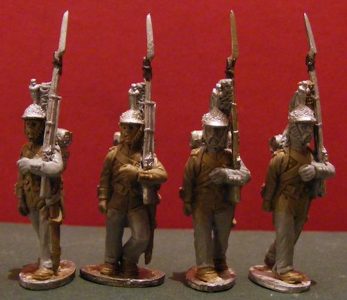 BG-NFR089  French Cavalry Dragoons - Dismounted - Marching  - Trousers (All 4 poses)