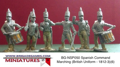 BG-NSP050  Spanish Infantry Command Marching (British Uniform - 1812-3)(6)