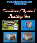 Spanish/Caribbean style building set (4 buildings SPECIAL PRICE)