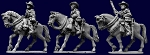 BG-WIEB85  Australian Light Horse Troopers Mounted - Advancing (3)
