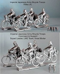 Imperial Japanese Army Bicycle Troops Squad (4 cmd, 8 rifles)