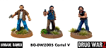 Drug War Z: Cartel Command V (3) (28mm Unpainted)