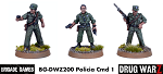 Drug War Z: Policia Command I (3)  (28mm Unpainted)