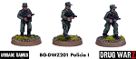 Drug War Z: Policia I (3)  (28mm Unpainted)