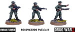 Drug War Z: Policia II (3)  (28mm Unpainted)