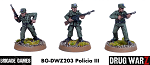 Drug War Z: Policia III (3)  (28mm Unpainted)