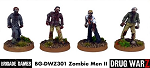 Drug War Z: Zombie Men II (4)  (28mm Unpainted)