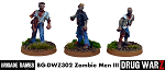 Drug War Z: Zombie Men III (3)  (28mm Unpainted)
