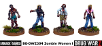 Drug War Z: Zombie Women I (4)  (28mm Unpainted)