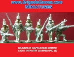 BG-NBR065  British Light Infantry - Skirmishing- trousers/w backpacks - stovepipe shako (all 6 variants)