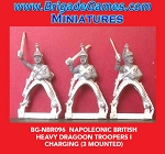 BG-NBR096 Napoleonic British Heavy Dragoons Troopers I, Charging 1812-15 (3 figure pack)