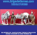 BG-NFR091  French Cavalry Dragoons - Dismounted - Horse Holders (2) (no Horses included)