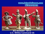 BG-NUS040  War of 1812: U.S. Militia Command (4)