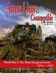 Contemptible Little Armies - Army Lists 1 (European Theatre) PDF (Digital) Version