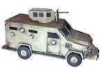 Military Bearcat armored car with MG turret (1/56th)