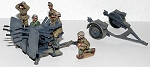 Quad 2cm Flakvierling 38, crew and Trailer (1/56th)