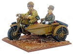 Japanese Motorcycle Sidecar & Officer