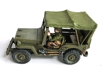 US-AFV Willy's Jeep with open Canopy (1/56th) (crew sold separately)(New version)