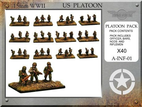 A-INF-01 US Infantry Platoon (15mm WW2)