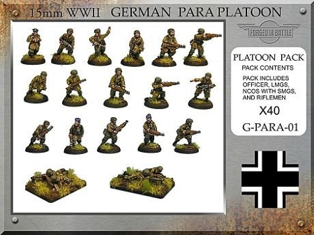 G-PARA-01 German Paratrooper Platoon (15mm WW2)