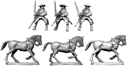 Special Order: GS22 - French Cavalry in Buff Coat with Carbines