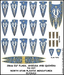 ELF(NS)1 - Elf Banner and Shields 1 Banner & Shield Transfers from Little Big Men Studios